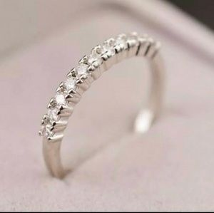 Vintage 925 CZ Diamond AAA wedding band